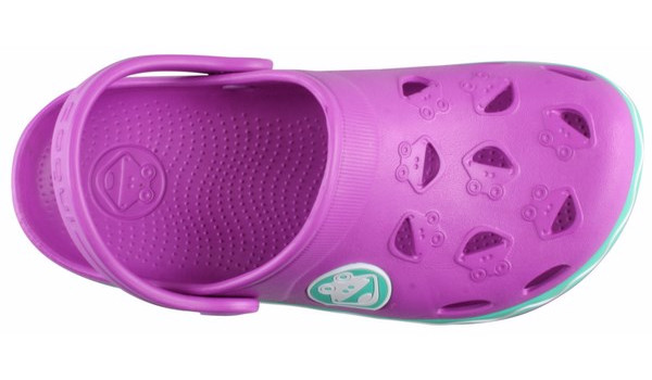 Kids Froggy Clog, New Purple/Mint 5