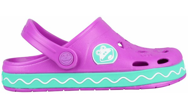 Kids Froggy Clog, New Purple/Mint 1