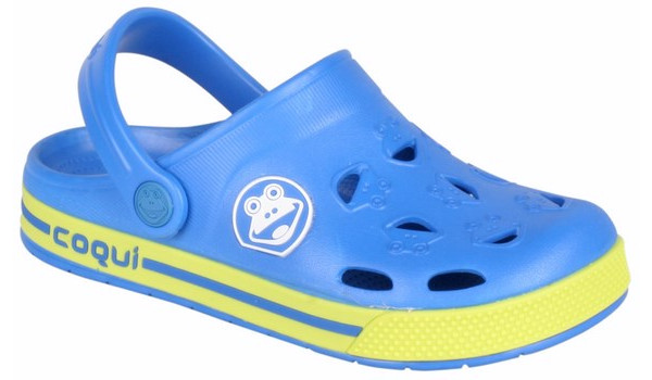 Kids Froggy Clog, Royal/Citrus 4