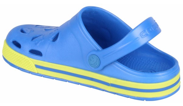 Kids Froggy Clog, Royal/Citrus 2