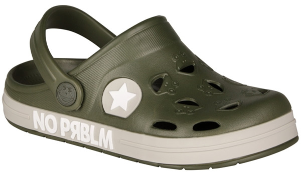 Kids Froggy Clog, Army Green 4