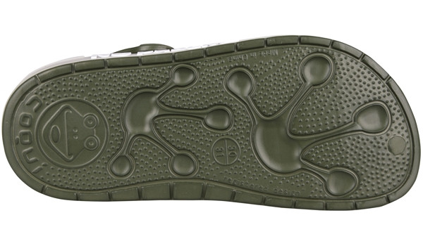 Kids Froggy Clog, Army Green 3