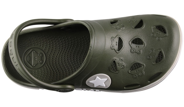 Kids Froggy Clog, Army Green 5