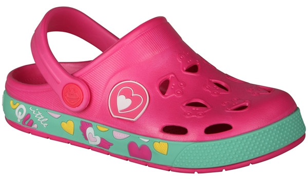 Kids Froggy Clog, Light Fuchsia 4