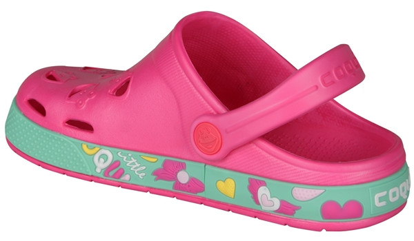 Kids Froggy Clog, Light Fuchsia 2
