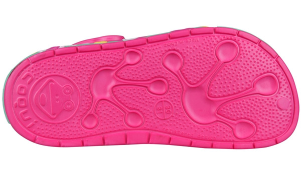 Kids Froggy Clog, Light Fuchsia 3