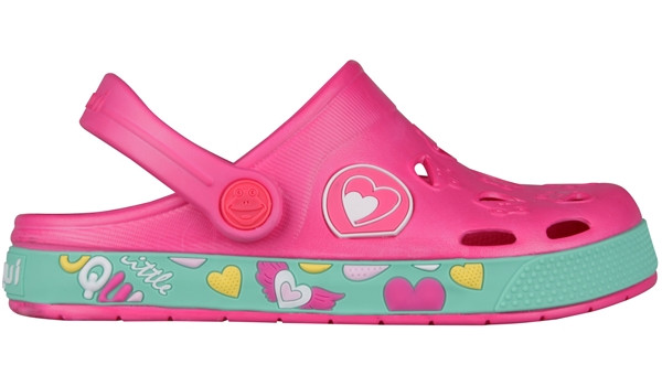 Kids Froggy Clog, Light Fuchsia 1