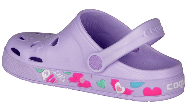 Kids Froggy Clog, Light Lila 2