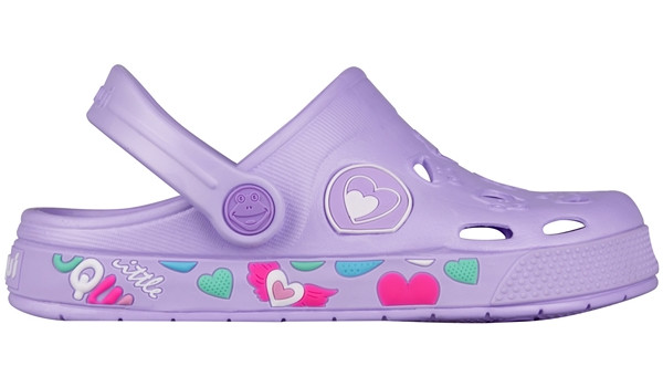 Kids Froggy Clog, Light Lila 1