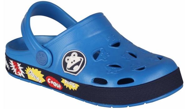 Kids Froggy Clog, Sea Blue/Navy 4
