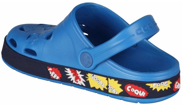 Kids Froggy Clog, Sea Blue/Navy2