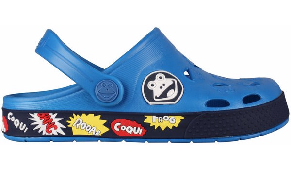 Kids Froggy Clog, Sea Blue/Navy 1