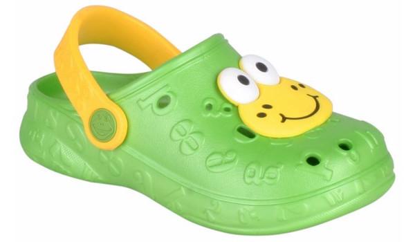 Kids Hoppa Clog, Lime 4