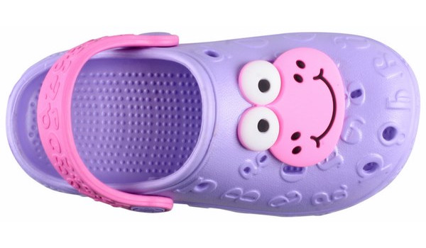 Kids Hoppa Clog, Light Lila 5