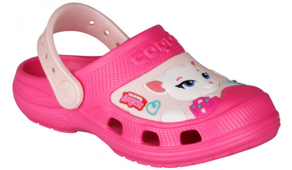 Kids Talking Tom & Friends Clog, Light Fuchsia/Candy Pink 4