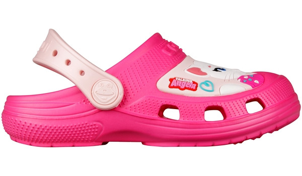 Kids Talking Tom & Friends Clog, Light Fuchsia/Candy Pink 1