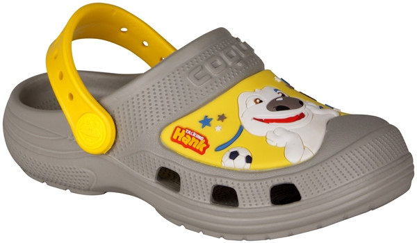 Kids Talking Tom & Friends Clog, Mid Grey/Yellow 4