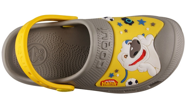 Kids Talking Tom & Friends Clog, Mid Grey/Yellow 5