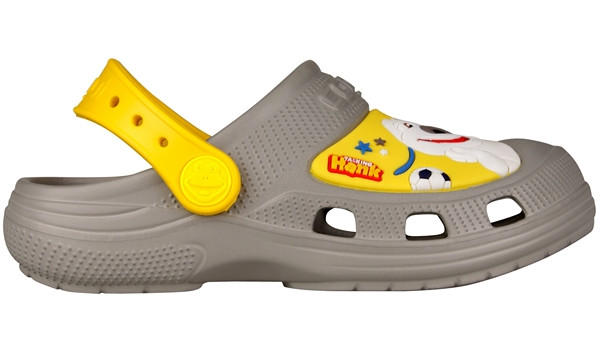 Kids Talking Tom & Friends Clog, Mid Grey/Yellow 1