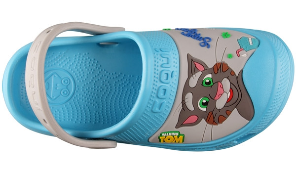 Kids Talking Tom & Friends Clog, New Blue/Stone 5