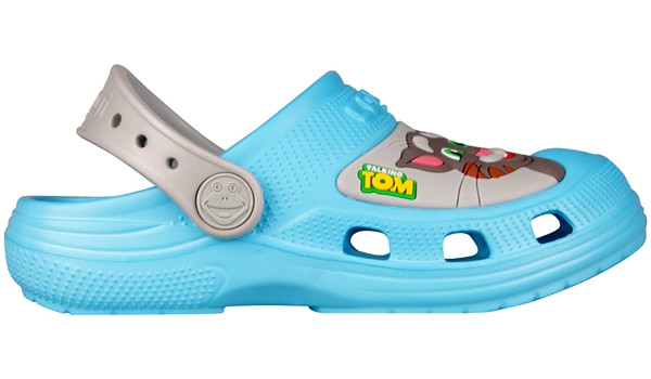Kids Talking Tom & Friends Clog, New Blue/Stone 1