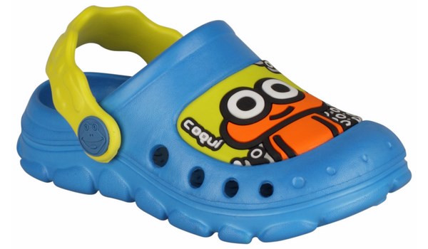 Kids Stoney Clog, Sea Blue/Citrus 4