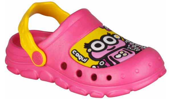 Kids Stoney Clog, Light Fuchsia/Yellow 4