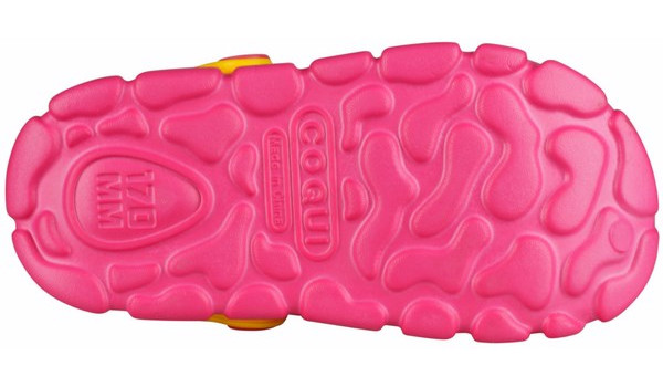 Kids Stoney Clog, Light Fuchsia/Yellow 3