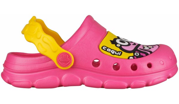 Kids Stoney Clog, Light Fuchsia/Yellow 1