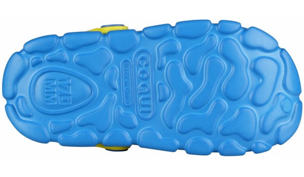 Kids Stoney Clog, Sea Blue/Citrus 3