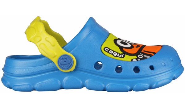 Kids Stoney Clog, Sea Blue/Citrus 1