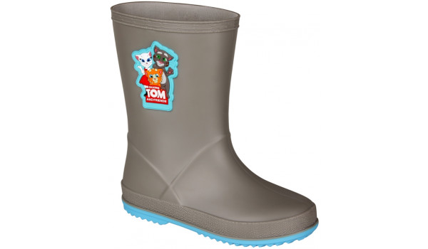Kids Talking Tom & Friends Rainy Boot, Mid Grey/New Blue 4