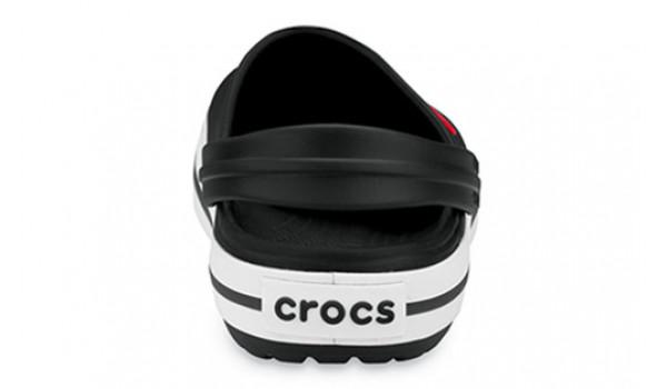 Kids Crocband White, Black/Black 2