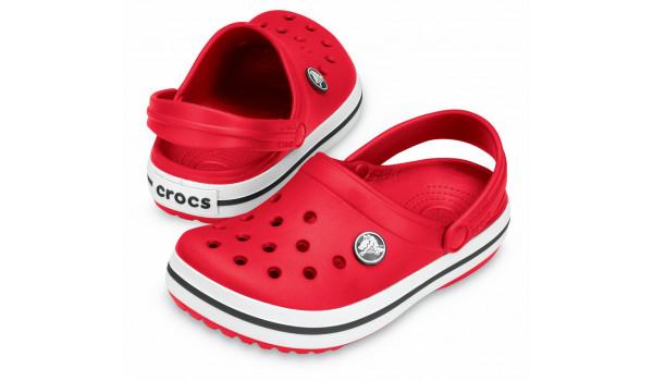 Kids Crocband White, Red 4