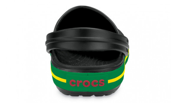Crocband, Black/KellyGreen 2