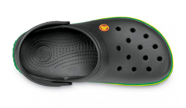 Crocband, Black/KellyGreen 6