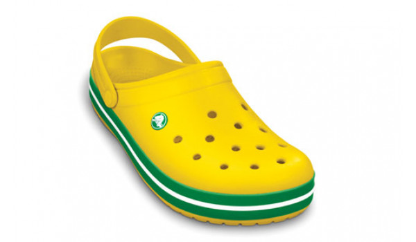 Crocband, Yellow/Kelly Green 6