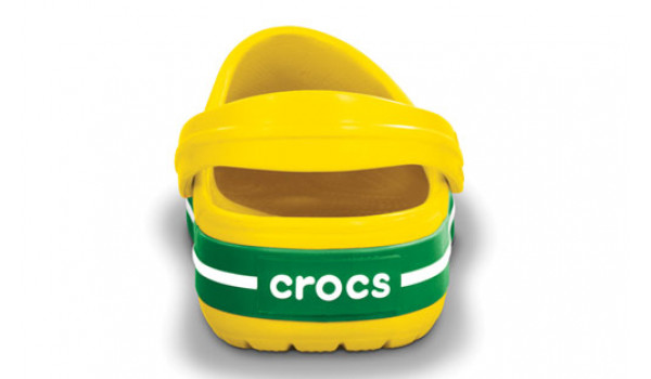 Crocband, Yellow/Kelly Green 2