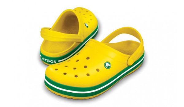 Crocband, Yellow/Kelly Green 4