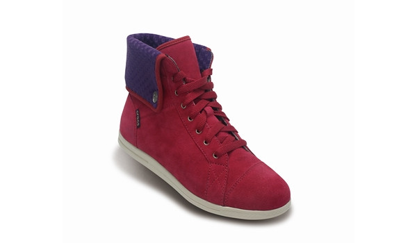 LoPro Suede HiTop Sneaker, Pomegranate/Mulberry 5