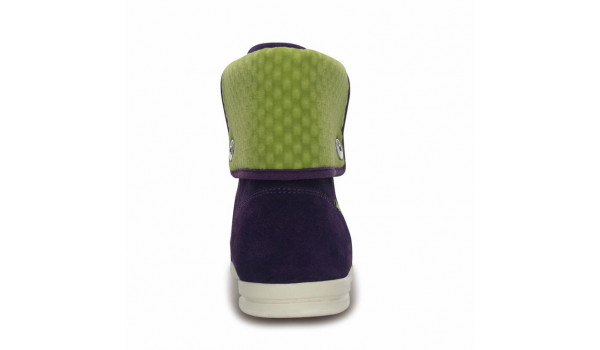 LoPro Suede HiTop Sneaker, Mulberry/Green Apple 2