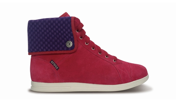 LoPro Suede HiTop Sneaker, Pomegranate/Mulberry 1