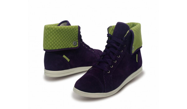 LoPro Suede HiTop Sneaker, Mulberry/Green Apple 4