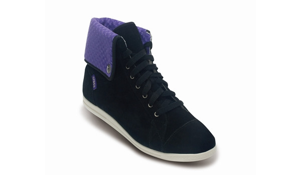 LoPro Suede HiTop Sneaker, Black/Ultraviolet 5
