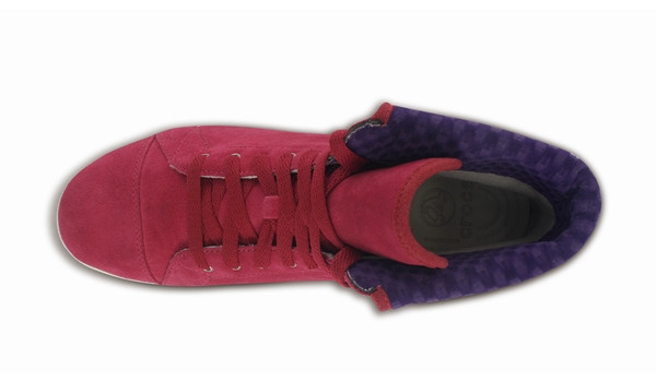 LoPro Suede HiTop Sneaker, Pomegranate/Mulberry 6