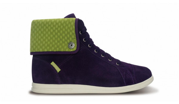 LoPro Suede HiTop Sneaker, Mulberry/Green Apple 1