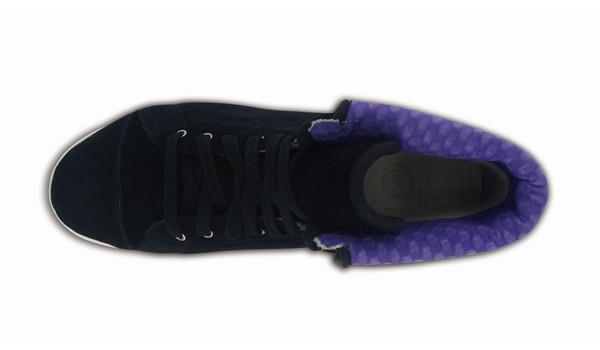 LoPro Suede HiTop Sneaker, Black/Ultraviolet 6
