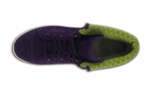 LoPro Suede HiTop Sneaker, Mulberry/Green Apple 6
