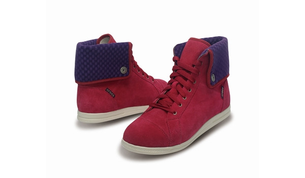 LoPro Suede HiTop Sneaker, Pomegranate/Mulberry 4