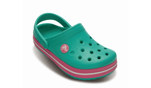 Kids Crocband, Island Green/Pink Lemonade 5